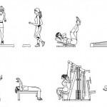Fitness yapan insan tefrişleri