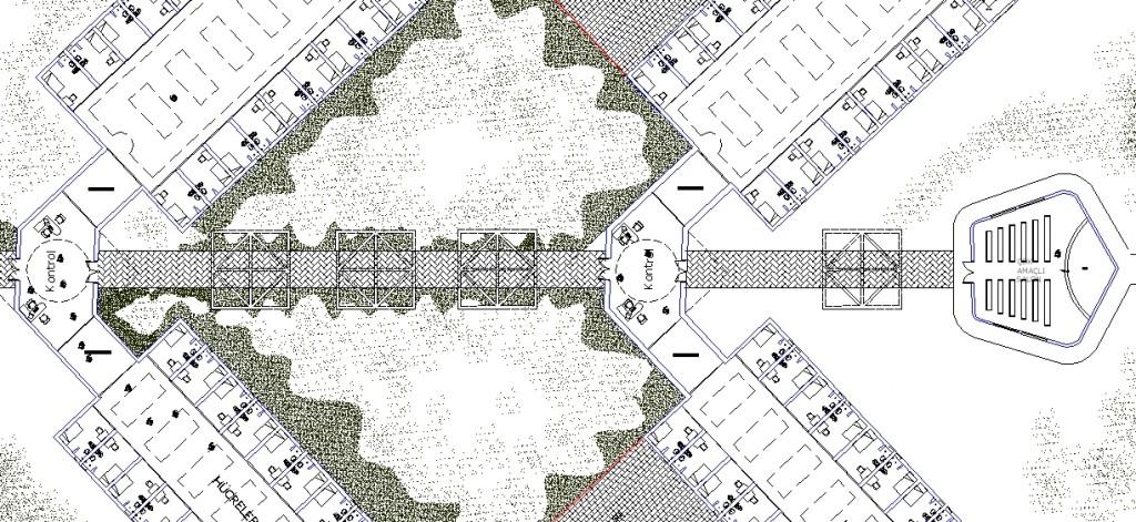 Hapishane projesi planı yakından görünüş 1