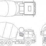 Mikser kamyonu çizimi