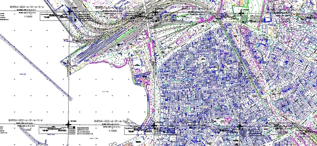 Harita paftası yakından görünüş