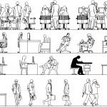 Ofiste çalışan insan tefrişleri