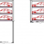 Otomatik araç parkı çizimleri