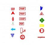Yangın güvenlik sembolleri