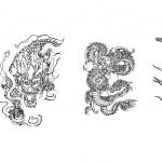 Autocad dragon çizimleri