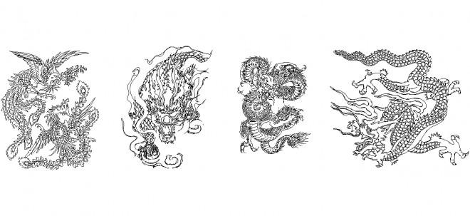 autocad-dragon-cizimleri-dwgindir