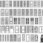 Autocad kapı çizimleri