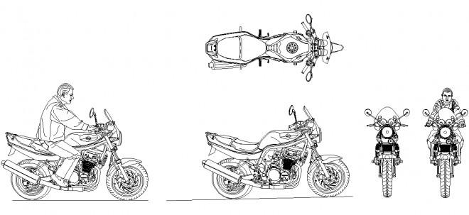 autocad-motorsiklet-cizimi-dwgindir
