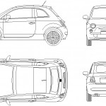 Fiat 500 çizimi