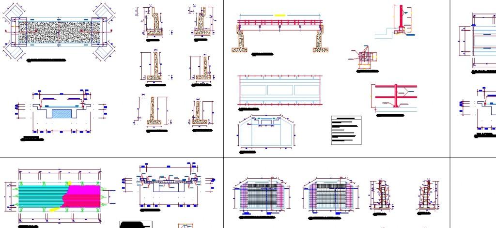 Köprü projesi detay çizimleri yakından görünüş