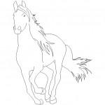 Koşan at çizimi
