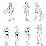 Plaj insanları