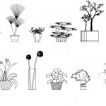Saksılı çiçek çizimleri