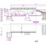 Taş köprü çizimi dwg