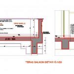 Teras balkon detayı