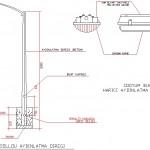 Bir konsollu aydınlatma direği detayları