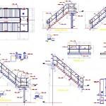 Çelik u merdiven detayları
