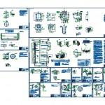 Detaylı dizel motor teknik çizimleri