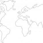 Dünya haritası dwg çizimi