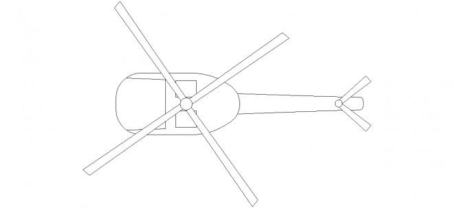 helikopter-plan-cizimi-dwgindir