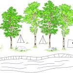 Kamp alanı çizimi