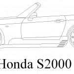 Modifiyeli Honda s 2000 çizimi