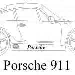 Modifiyeli porsche 911 çizimi