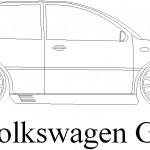 Modifiyeli volkswagen gti çizimi