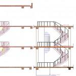 Panoramik asansör ve yuvarlak merdiven çizimi