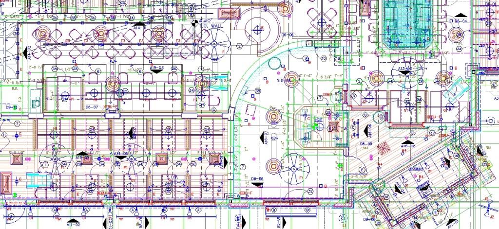 Pizza hut projesi teknik plan yakından görünüş