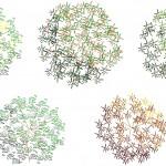 Renkli ağaç plan çizimleri