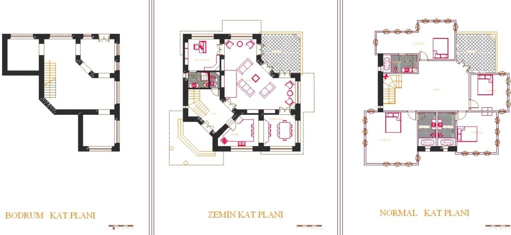 Safranbolu konağı kat planı yakından görünüş
