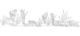 su-bitkisi-cizimleri-dwgindir