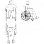 Tekerlekli sandalyeli adam çizimi