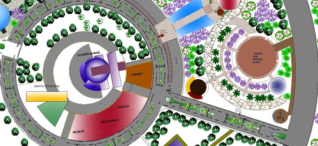 Turistik eco park projesi yakından görünüş