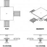 Zemin sabitlemeli kare masa ve arkalıksız sandalyeler