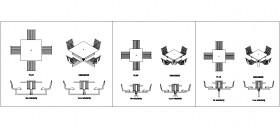 zemin-sabitlemeli-kare-masalar-ve-arkalikli-sandalyeler-dwgindir