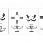 Zemin sabitlemeli yuvarlak masalar ve arkalıklı sandalyeler