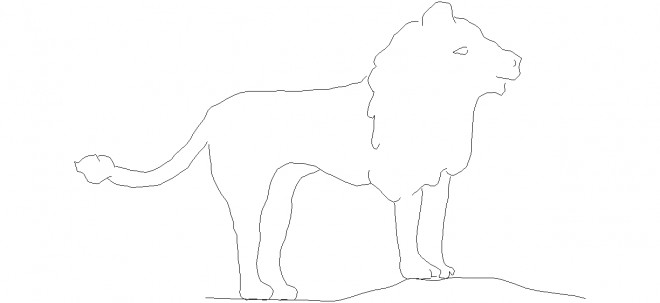 aslan-cizimi-dwg-dwgindir