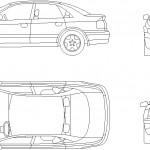 Audi araba çizimi