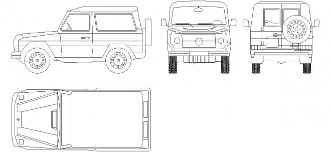 autocad-jeep-cizimi-dwgindir