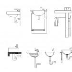 Banyo lavabosu kesit çizimleri