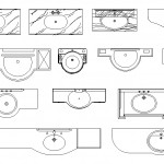 Hilton lavabo plan çizimleri