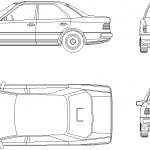 Mercedes autocad çizimi