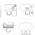 Ofis masası planları autocad