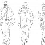 Ön görünüş insan çizimleri