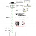 Projektörlü aydınlatma direği detayları
