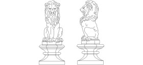 aslan-heykeli-autocad-cizimi-dwgindir