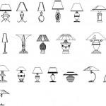 Autocad masa lambası blokları