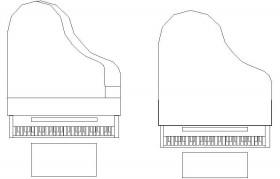 autocad-piyano-cizimi-dwgindir