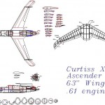 Curtiss xp-55 ascender model uçak planı